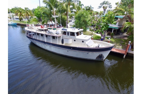 1956 Camden Boat Works 73 Pilothouse Dory