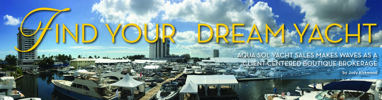 Find your dream yacht - boat show